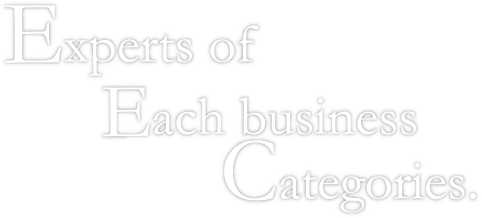 Experts of Eeach business Categories.